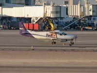 N844FE @ KLAS - Federal Express - 'FedEx' / 1989 Cessna 208B - (Super Cargomaster)