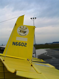 N6602 @ LHM - K & K Aerial Applicators logo on tail of 1970 Grumman G-164A @ Lincoln Municipal Airport, CA