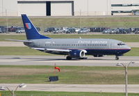 N309UA @ DTW - Taking off on 21R