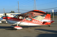 N88353 @ RHV - Amelia Reid Aviation 1975 Bellanca 7KCAB in early morning @ Reid-Hillview Airport (San Jose), CA