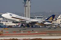 9V-SFP @ LAX - Singapore Airlines Cargo 9V-SFP (FLT SQC7965) departing RWY 25R enroute to Hong Kong Int'l (VHHH). - by Dean Heald