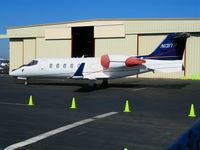 N131TR @ SQL - Well Fargo Bank leased 2001 Learjet 60 @ Hayward Municipal Airport, CA - by Steve Nation