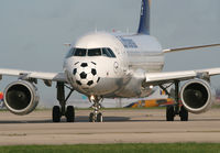 D-AILI @ EGCC - Soccer nose - by Kevin Murphy