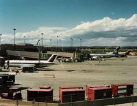 N410SW @ COS - Skywest old colors 1996
