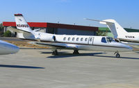 N348QS @ SMF - NetJets 1996 Cessna 560 @ Sacramento Metro Airport, CA - by Steve Nation