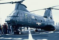 154826 - CH-46D on the USS Kansas City - by Mark Pasqualino
