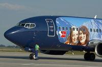 OM-SEE @ BTS - Sky Europe Boeing 737-500 in special colors
