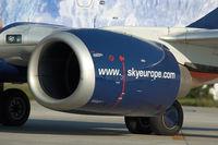 OM-SEE @ BTS - Sky Europe Boeing 737-500