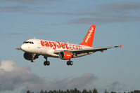 HB-JZN @ BOH - EASYJET A319 ON APPROACH R/W 26 FROM GENEVA - by barry quince