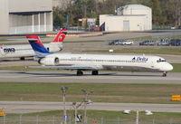 N903DA @ DTW - Delta MD-90