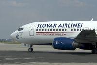 OM-AAA @ BTS - Slovak Airlines Boeing 737-300