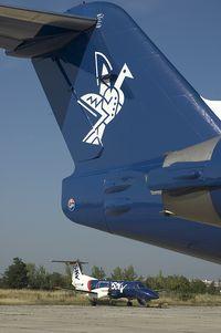 OM-AAC @ BTS - Slovak Airlines Fokker 100