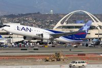 CC-CWN @ LAX - LAN Airlines CC-CWN (FLT LAN601) departing RWY 25R enroute to Jorge Chavez Int'l (SPIM). Many thanks to Ralph Duenas for letting me use his lens. [Canon 30D, 300mm f/4L IS] - by Dean Heald