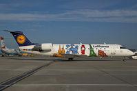 D-ACJH @ VIE - Lufthansa Regional Canadair Regionaljet in special colors