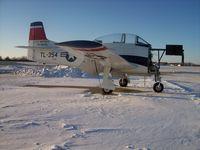 N1328B @ KRFD - North American T-28B down for engine overhaul - by Mark Pasqualino