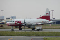 EC-HMR @ BRU - Swiftair Convair 580 in DHL colors