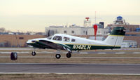 N142LH @ FRG - Farmingdale State Seminole about to flare 19