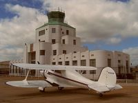 N26GM @ HOU - Parked in front of the 1941 Air Terminal Museum - by Michael Bludworth