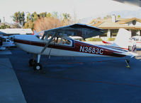 N3683C @ SZP - Port side view of 1954 Cessna 180 @ Santa Paula Airport, CA