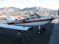 N3683C @ SZP - Starboard view of 1954 Cessna 180 (Look ma, no wing!) @ Santa Paula Airport, CA
