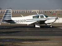 N58060 @ SCK - Pacer Flying Club (Pacifica, CA) 1985 Mooney M20J in for maintenance @ Stockton Municipal Airport, C