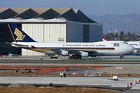 9V-SFN @ LAX - Singapore Airlines Cargo 9V-SFN (FLT SQC7986) taxiing to the cargo terminal after arrival on the north complex from Ted Stevens Anchorage Int'l (PANC).