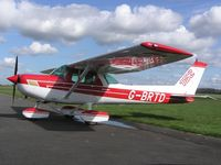 G-BRTD @ EGBT - Cessna 152 on a sunny day at Turweston - by Simon Palmer