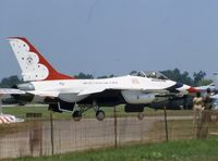 81-0687 @ DAY - Thunderbird 6 at Dayton International Air Show - by Glenn E. Chatfield