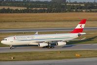 OE-LAG @ VIE - Austrian Airlines Airbus 340-200