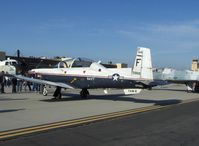 165968 @ NTD - Beech T-6A TEXAN II Trainer of Training Air Wing-6, one P&W (Canada) PT-6A-68 Turboprop flat rated at 1,100 shp driving constant 2,000 rpm prop - by Doug Robertson