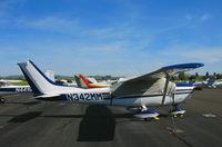N342MM @ O69 - 1982 Cessna 182L with cover @ Petaluma, CA
