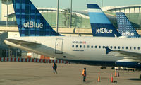 N591JB @ JFK - A Three Tail De-tail of A Tale of Blue Cities and 2 others