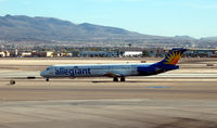 N863GA @ LAS - Allegiant at McCarran taxi to take-off - by John Little