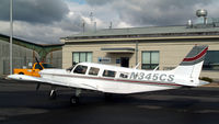 N345CS @ WST - This Cherokee Six at Westerly - New England Airlines