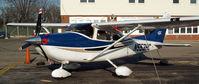 N553HC @ FRG - Turbo Skylane in 681MA's old parking spot...