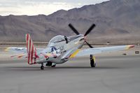 N151TF @ KLSV - Provenance Fighter Sales Inc. - Las Vegas, Nevada / 1965 North American F-51D Mustang 'Tempus Fugit' - Aviation Nation 2006 - by Brad Campbell