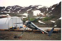C-FQHB - Wind damage, early fall 1994 - by Peter Daubeny