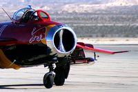 N117BR @ KLSV - MiG Magic Inc. - Westlake Village, California / Built in 1959 in Poland. Mikoyan-Gurevich MiG-17 Fresco - LIM-5. 'Red Bull' - Aviation Nation 2006