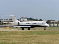 N823DF @ EGLF - Bombardier BD700
