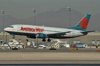 N334AW @ KLAS - America West Airlines / 1987 Boeing 737-3Y0