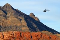 N7510N @ RRHP - Shining Star Helicopters - Las Vegas, Nevada / 2006 Robinson Helicopter Company R44 II - Red Rock Canyon in the background.