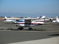 N227M @ SQL - Skyway Partners 1964 Cessna 172E in sunshine @ San Carlos, CA