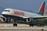 N678AW @ KLAS - America West Airlines / 2005 Airbus A320-232