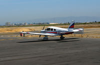 N4319D @ SQL - Arch Aviation 1983 Piper PA-28-181 running-up @ San Carlos, CA