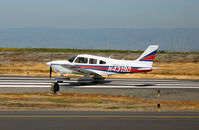 N4319D @ SQL - Arch Aviation 1983 Piper PA-28-181 beginning take-off run @ San Carlos, CA