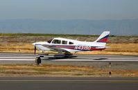 N4319D @ SQL - Arch Aviation 1983 Piper PA-28-181 beginning take-off run @ San Carlos, CA