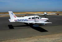 N4334V @ SQL - Bel Air (titles) Piper PA-28-181 @ San Carlos, CA