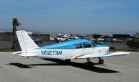 N5273W @ SQL - 1962 Piper PA-28 from Santa Rosa visiting @ San Carlos, CA
