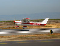 N45570 @ SQL - San Mateo Flying Club 1975 Cessna 150M on training flight @ San Carlos, CA