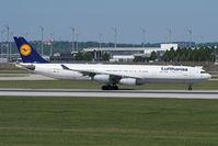 D-AIFF @ EDDM - LH A340 arrived at MUC.